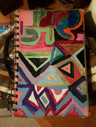 Untitled, Me, lacquer in notebook