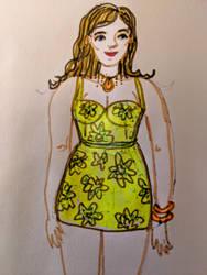 Summer Dress Sketch