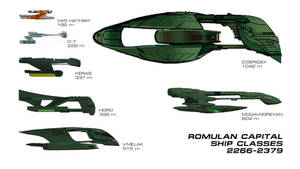 Romulan Capital Ship Classes 2266-2379