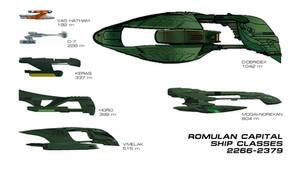 Romulan Capital Ship Classes 2266-2379 by VSFX