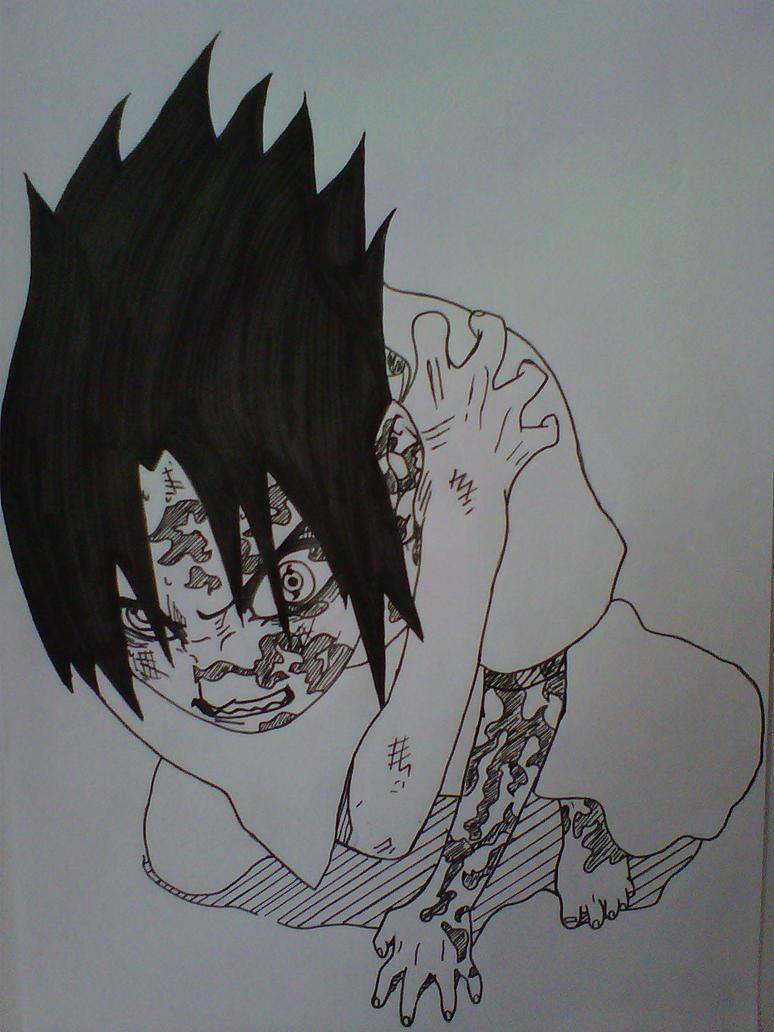 Uchiha Sasuke - Curse Mark by Kawaiininninninja on DeviantArt