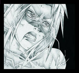 Sasuke curse - pencil by shichinin-tai