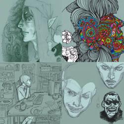 Random sketches 8 by shichinin-tai