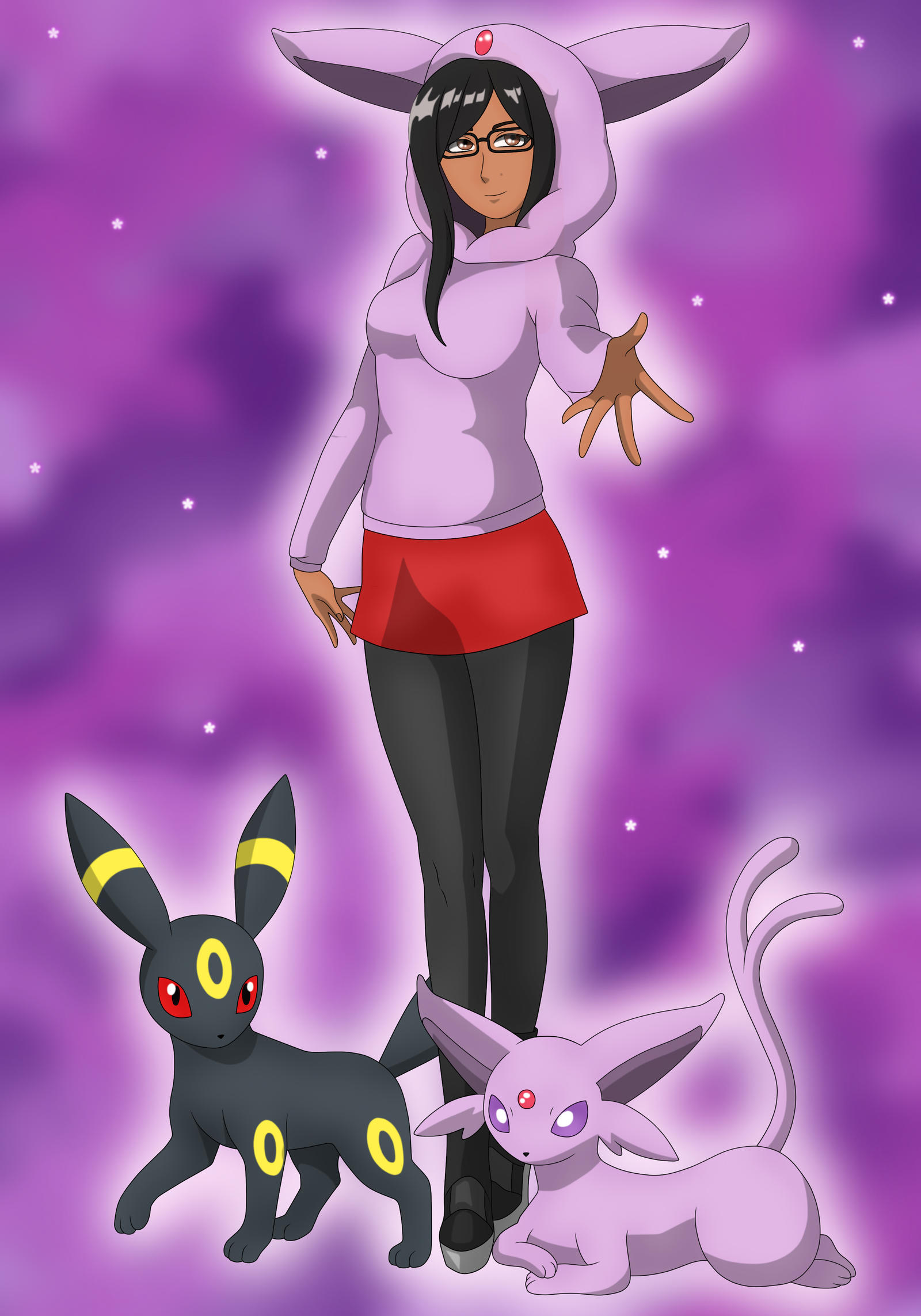 Espeon and Umbreon by AE-Viatrix on DeviantArt
