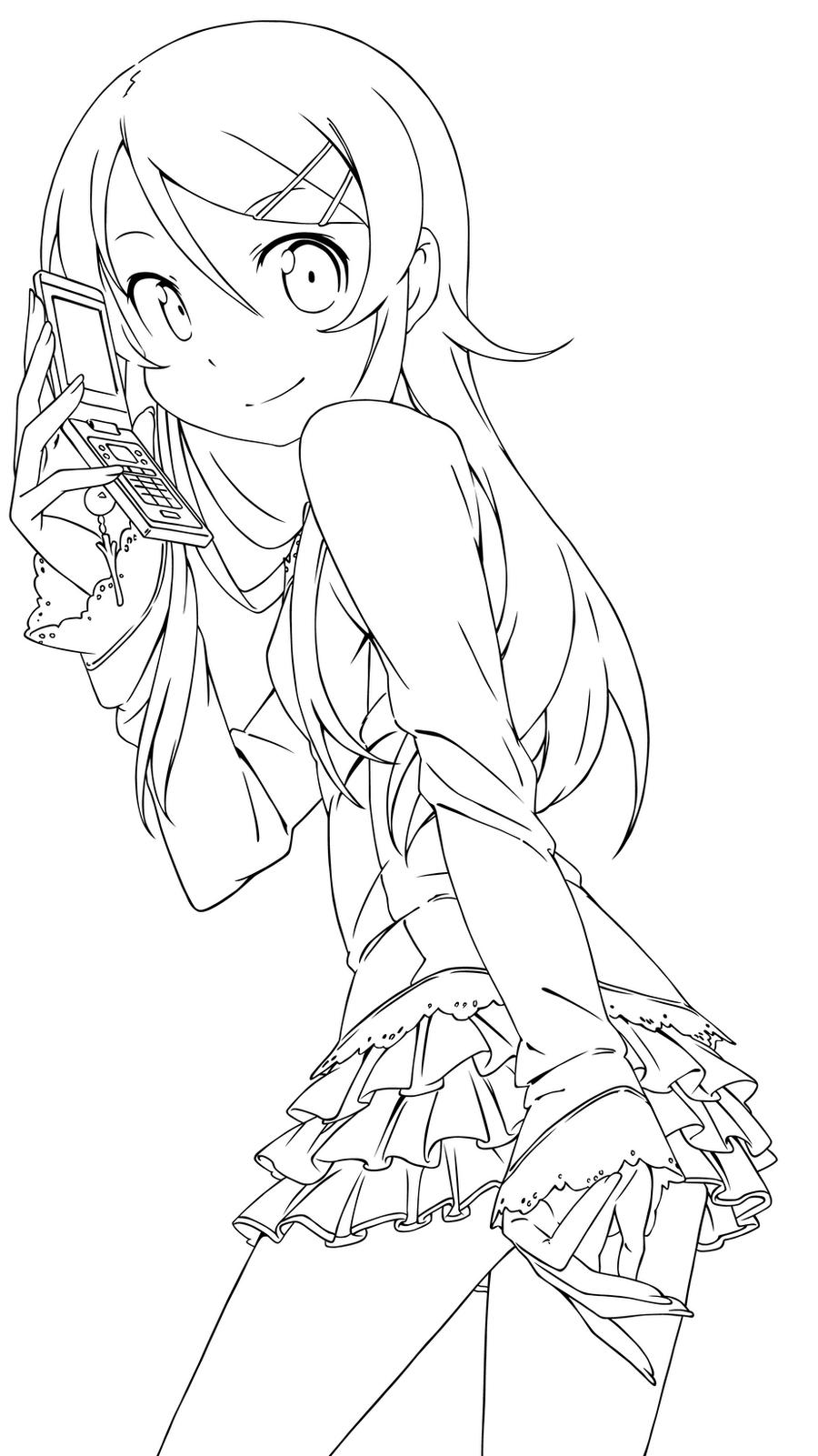Coloring Lineart : Kirino kousaka lineart by mayuuki chan on deviantart