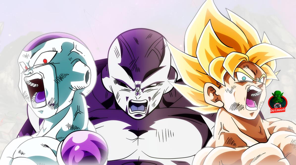 Goku And Frieza Finishing Jiren Wallpaper By Daimaoha5a4