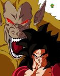 Goku ssj4 and Golden Oozaru