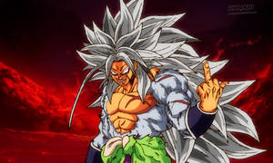 Broly ssj5 in New Movie Style by daimaoha5a4