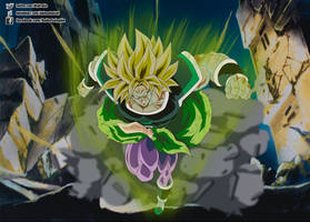 Broly ssj in 1993 style by daimaoha5a4