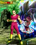 Kefla and Goku Artwork Collab