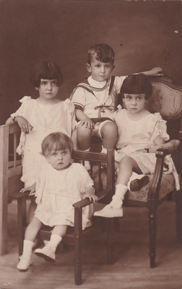 Vintage children picture by photoshop-stock