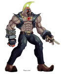 Street Fighter Alpha - Birdie. by vf02ss
