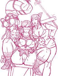 Teacher Juri class Sketch by vf02ss