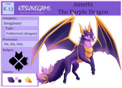 Id Card Amethi The Purple Dragon By Aurialudzic.