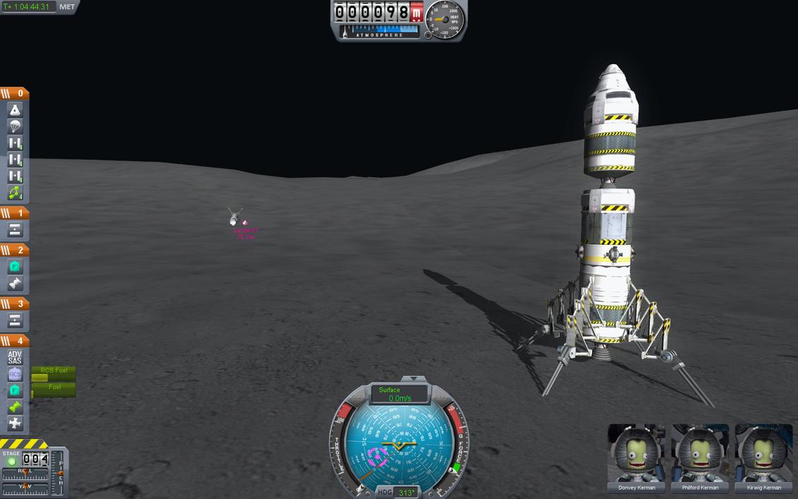 Kerbal Space Program - Mun Lander by misterxman on DeviantArt