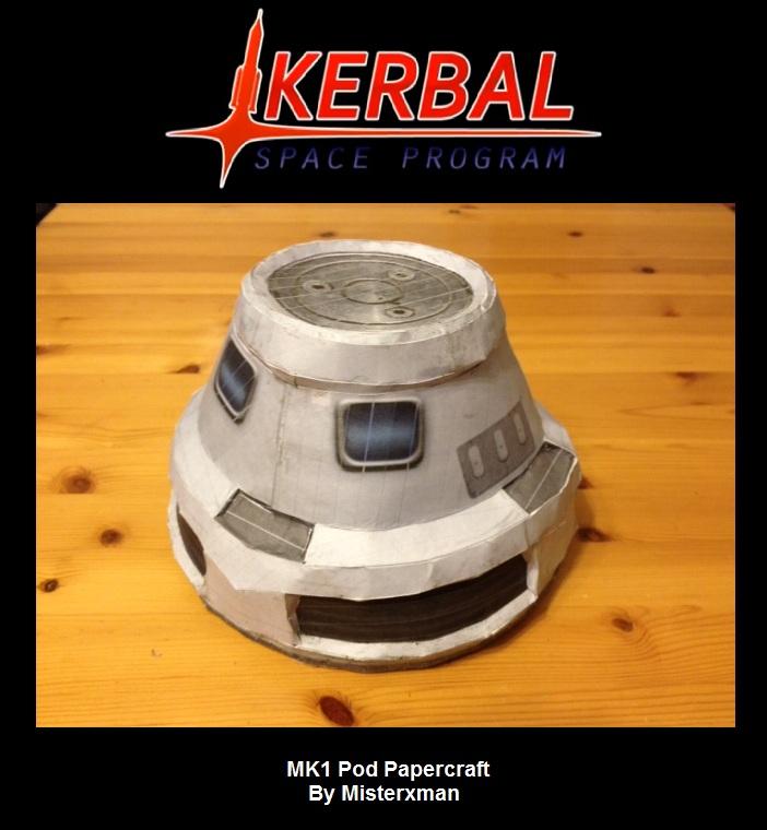 Kerbal Papercraft - MK1 Pod by misterxman