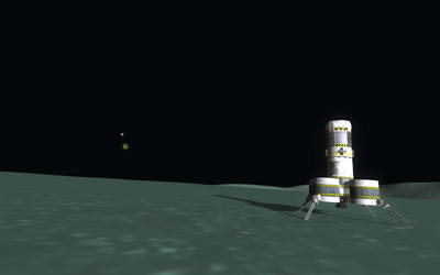 Kerbal Space Program - View from Minmus