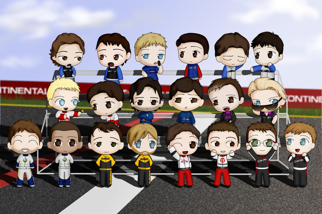 Lil F1 dudes by Peccadillos