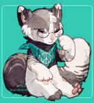 Sleepy fluffy tail [ art trade ]