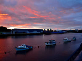 Boats on the Tyne by HKW1994