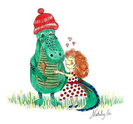 Love for crocodile