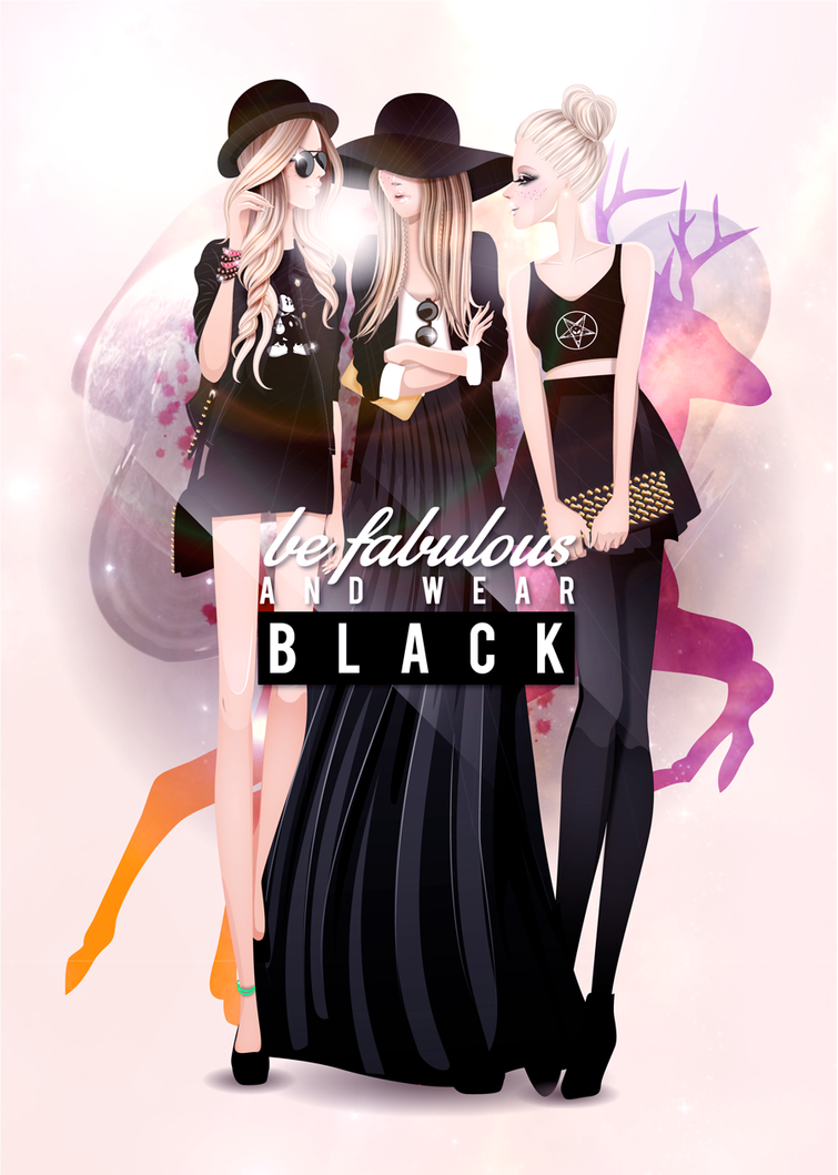 Be fabulous and wear BLACK by jaalondon
