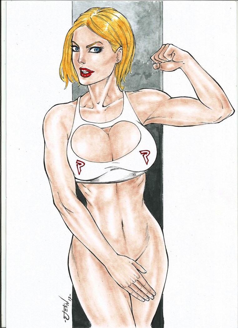 Power Girl ComicArt ByJeanArt17 by JeanArtes