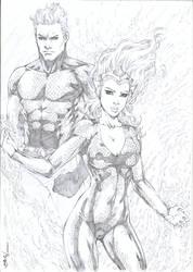 Mera and Aquamen