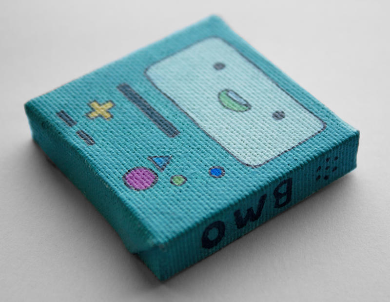 Adventure Time BMO Mini Painting By LunaAshley