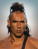 Magua from 'The Last of the Mohicans' by s3lwyn