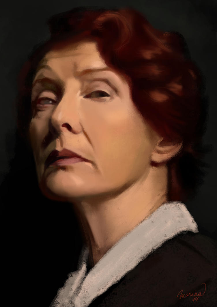 Portrait of Frances Conroy by s3lwyn