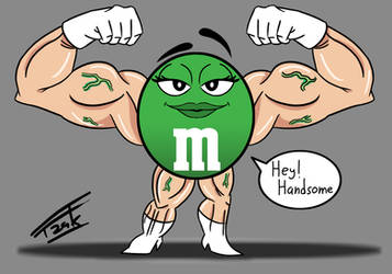 Green MnM Muscle by Fzak