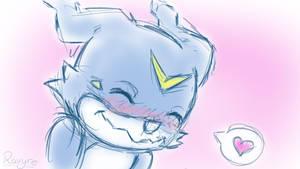 Blushing Veemon