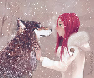 Girl and the Wolf by Medlih