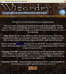 Wizardry web design. by Dipso
