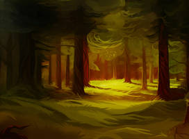 In the forest by andrework