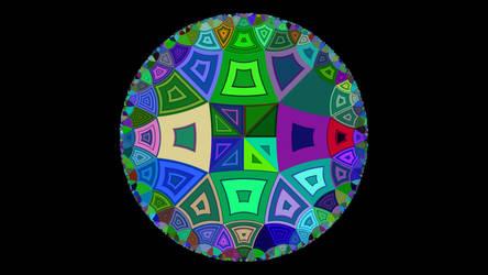 Hyperbolic tiling 4