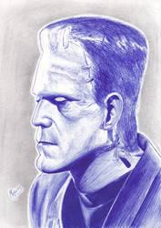 Ball Pen Frankenstein by mascarum
