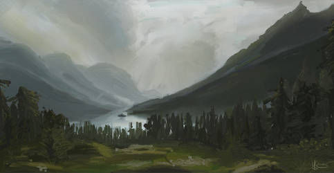 Landscape Study by mascarum