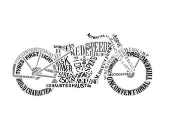 Bike typography art by Mischievous-Hyena