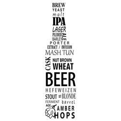 Beer bottle typography art by Mischievous-Hyena
