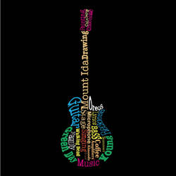 Guitar typography artwork by Mischievous-Hyena
