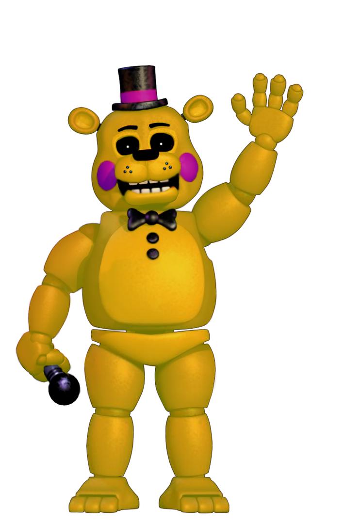 Gold Freddy Toys : Toy golden freddy by thepuppetbb on deviantart