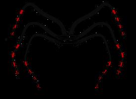 Dark Lord's Stand- Dark Red Slender Snake