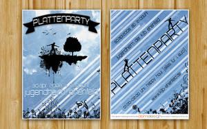 Flyer Plattenparty II by DOMDESIGN