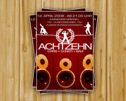 Flyer Achtzehn Party by DOMDESIGN