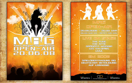 Flyer MRG Open-Air 2008 by DOMDESIGN