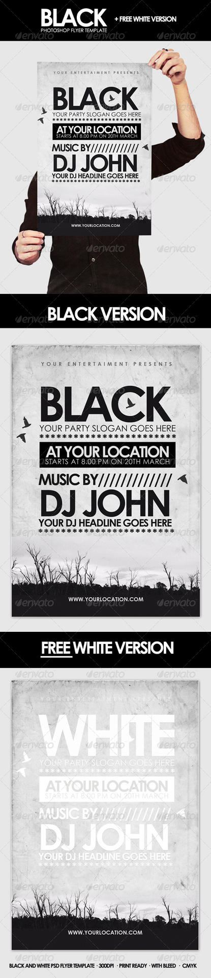 Black - Flyer Template by DOMDESIGN