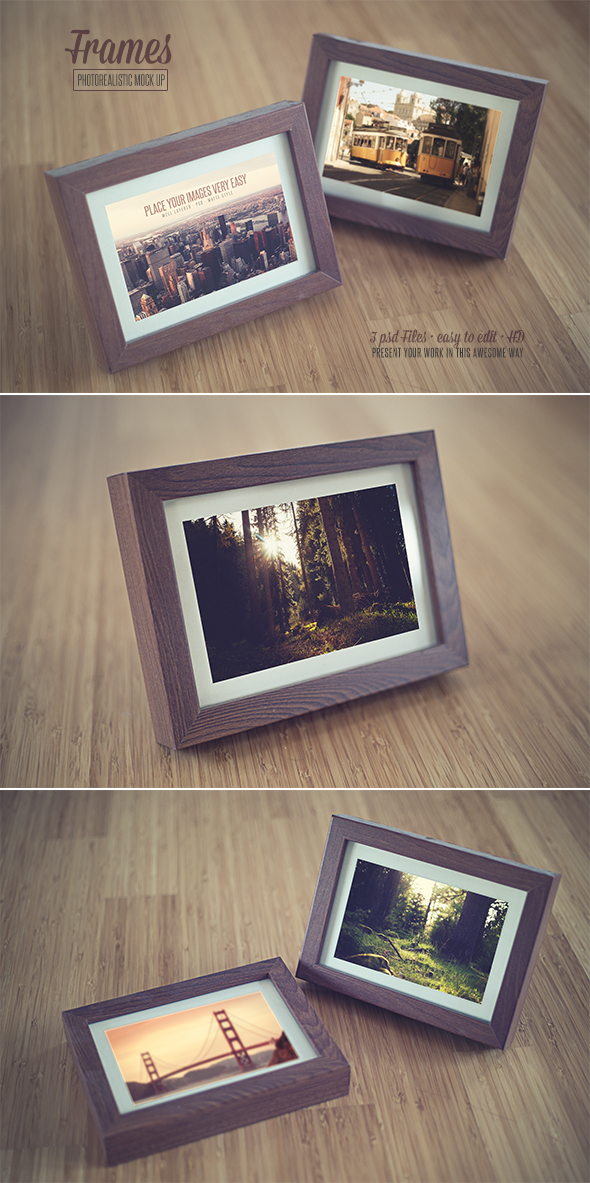 Realistic Frames Mock Up by DOMDESIGN