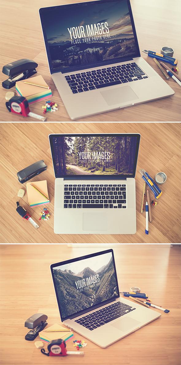 Desk II - Realistic Mock Up by DOMDESIGN